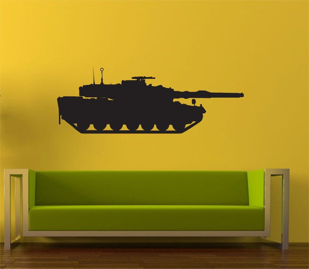 army tank vinyl wall art decal sticker wall sticker decal kids room ...