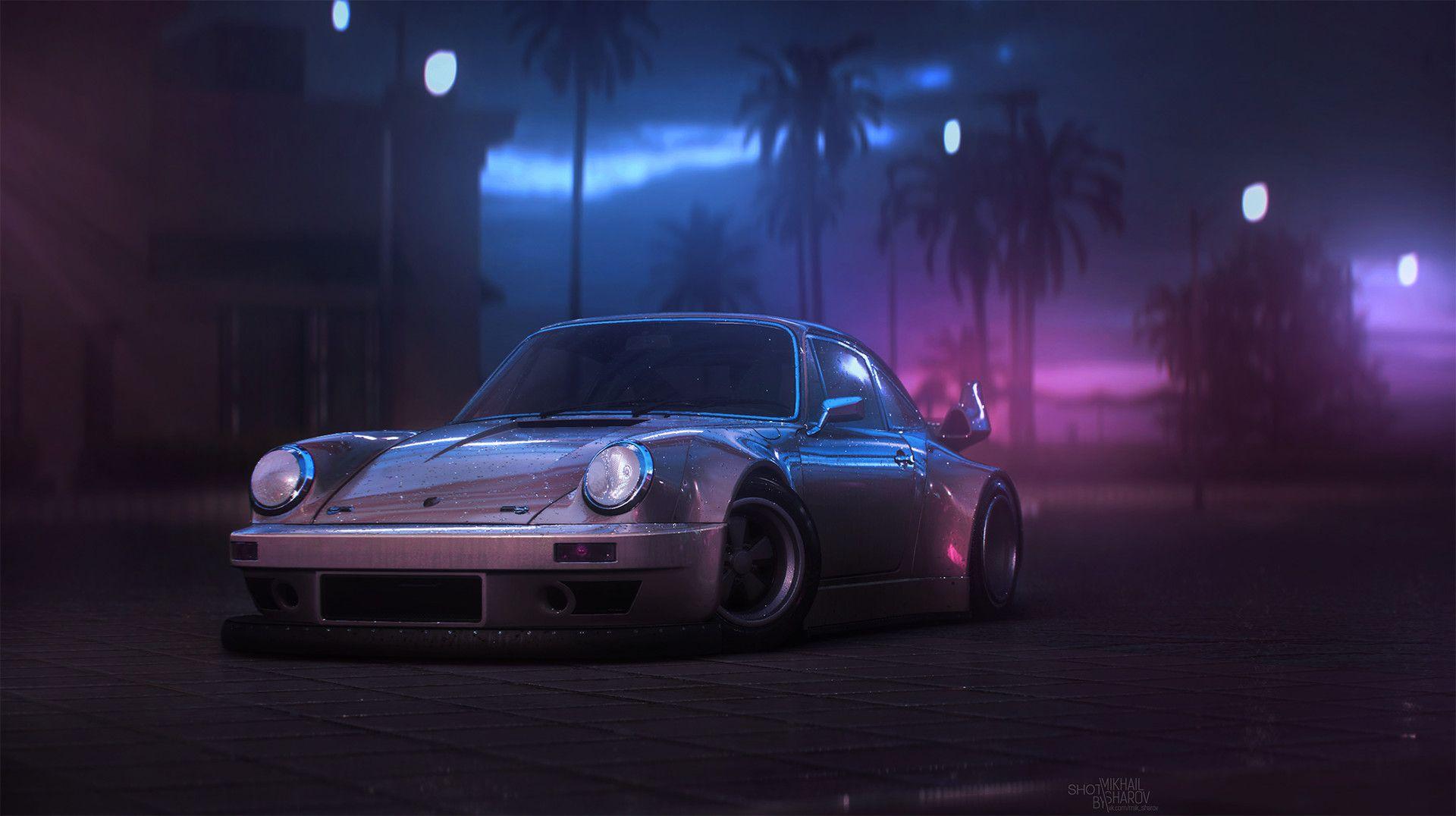 Http Bit Ly 1segzuo On Artstation Bymikhail Sharov Welcome To Miami Jdm Wallpaper Porsche 911 Car Wallpapers