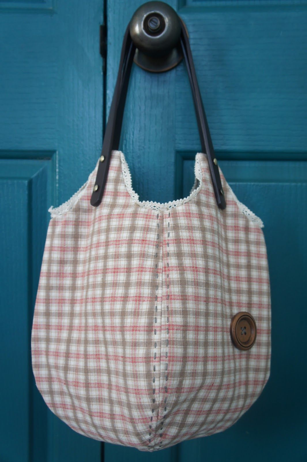lovemayday zakka: Pumpkin bag (lace - running stitch - plaid ...