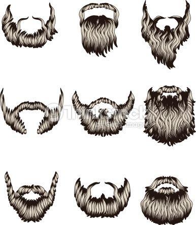 Beard simple. How to draw cartoon