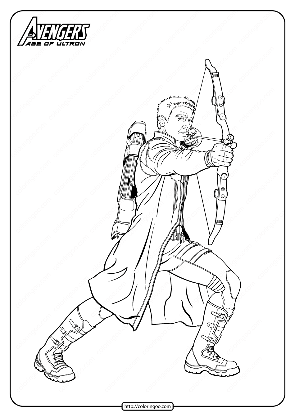 Marvel Avengers Hawkeye Pdf Coloring Pages In 2020 Avengers Coloring Pages Marvel Coloring Coloring Pages