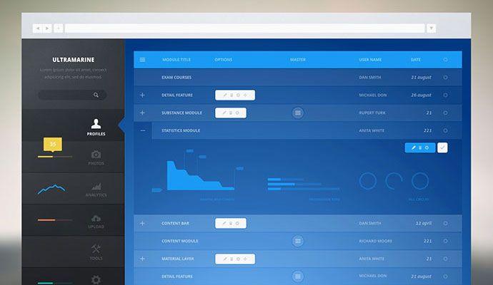 Dashboard Monochromatic Visual Design, Infographic, Dashboard - dashboard design inspiration