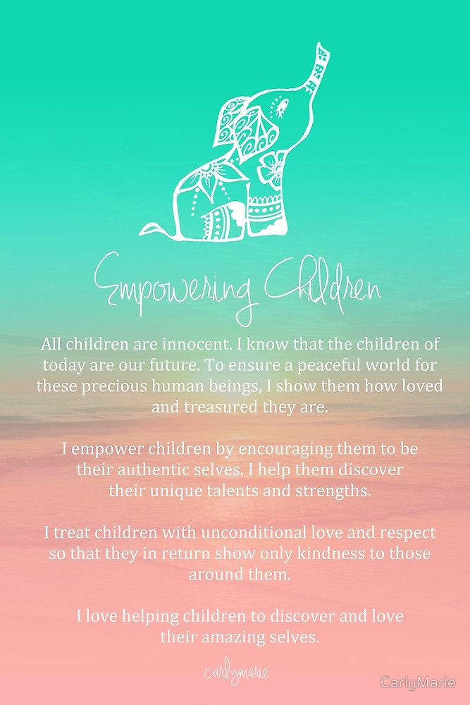 Affirmation Empowering Children By Carlymarie