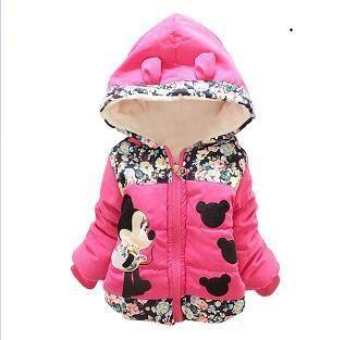 04fd022f5 Baby Girls Kids Minnie Sweater Hoodie Jacket Coat Winter Warm Outerwear. Toddler  Baby Girls Floral ...