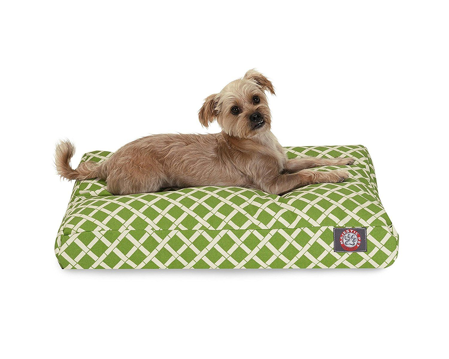 Sage Bamboo Small Rectangle Indoor Outdoor Pet Dog Bed With ...