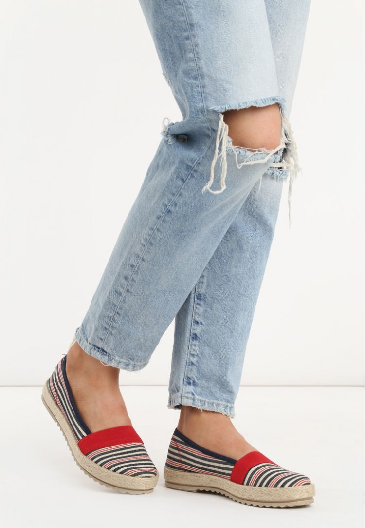 Czerwone Espadryle Suprise Me Fashion Espadrilles Shoes