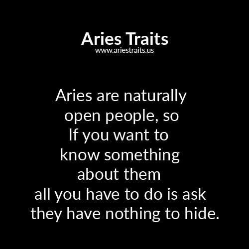 aries horoscope traits personality