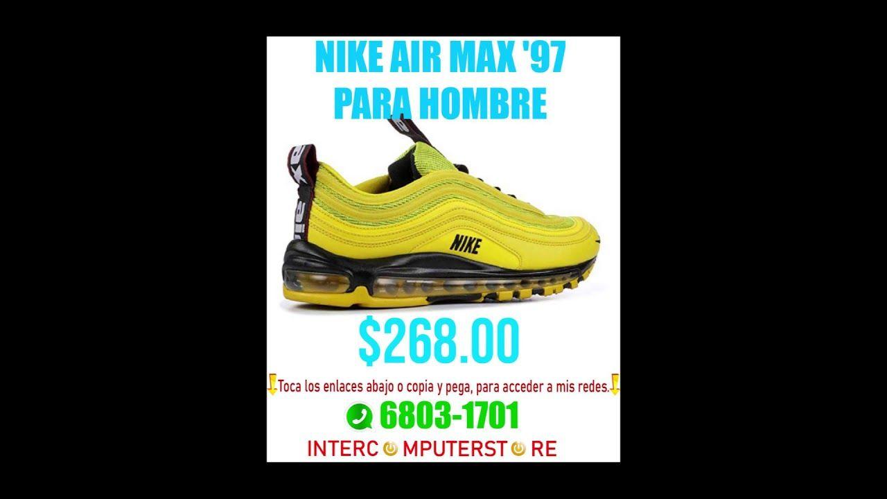 NIKE AIR MAX '97 PARA HOMBRE AMARILLAS   Nike air max, Air ...