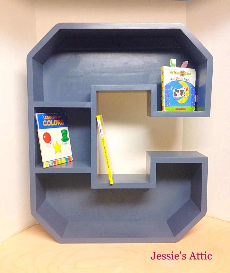 A-Z Letter Shelf by Jessie's Attic