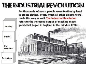 Industrial Revolution Building Block Lesson With Images