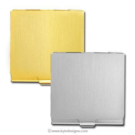 Engraved Square Business Card Cases In