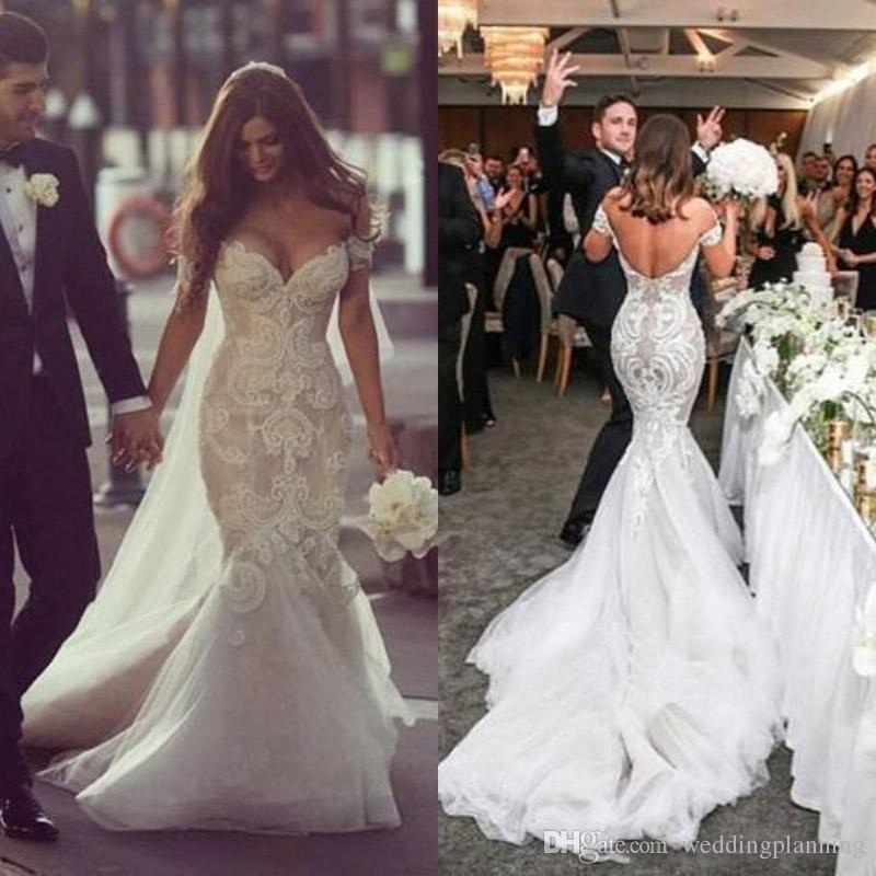 Gorgeous Steven Khalil Dubai Style Wedding Dresses Off the Shoulder ...