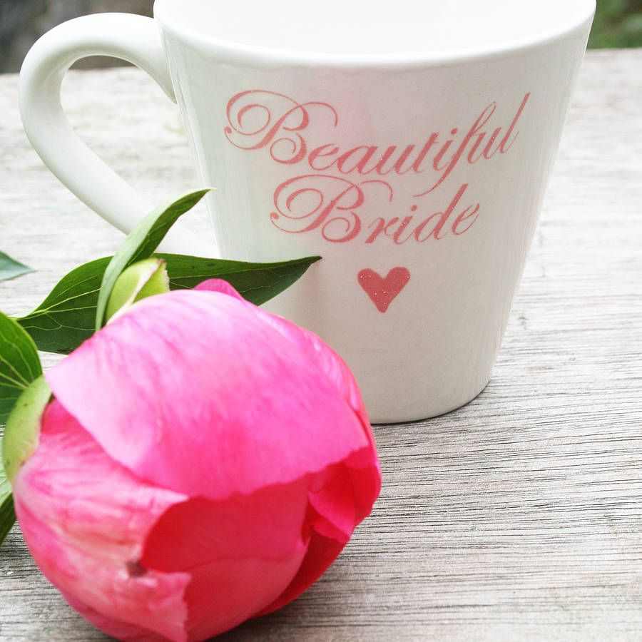 personalised wedding mug by juliet reeves designs ...