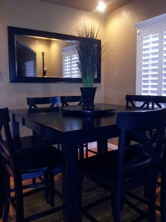 Small Dinning Room I Wouldn T Do It Black Tho Home Is
