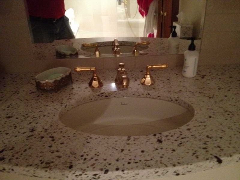 Bathroom faucet repair with colour yellow gold http