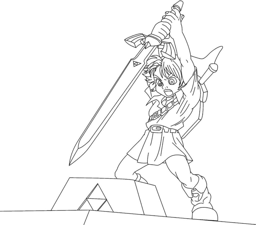 Free Printable Zelda Coloring Pages For Kids Coloring Pages Legend Of Zelda Coloring Books
