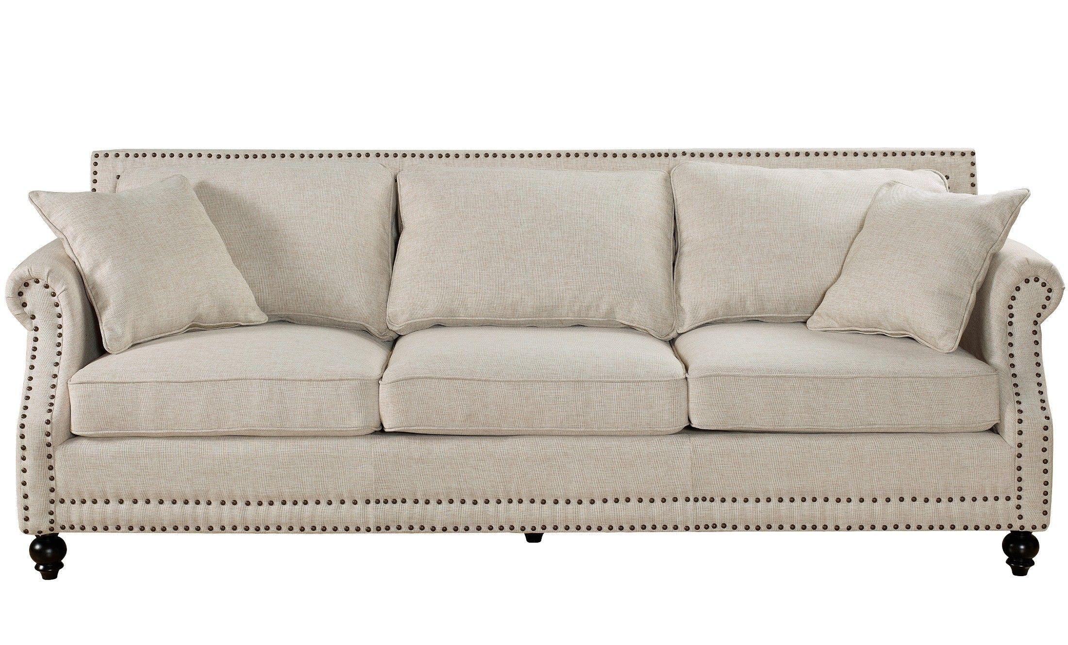 Camden Beige Linen Sofa Sofa Beige Sofa De Lino Decoracion Hogar