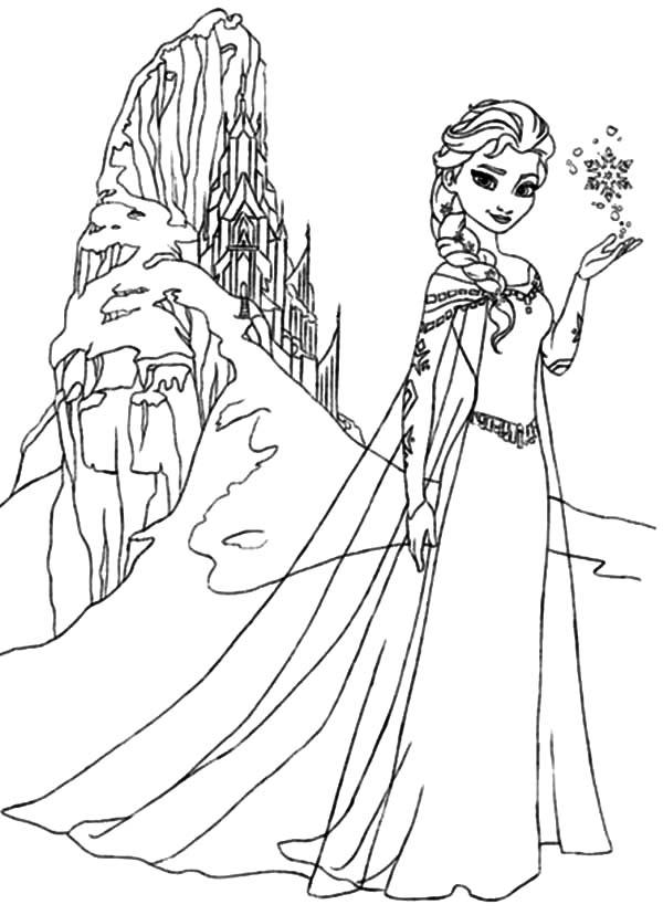 Malvorlage Elsa Schloss