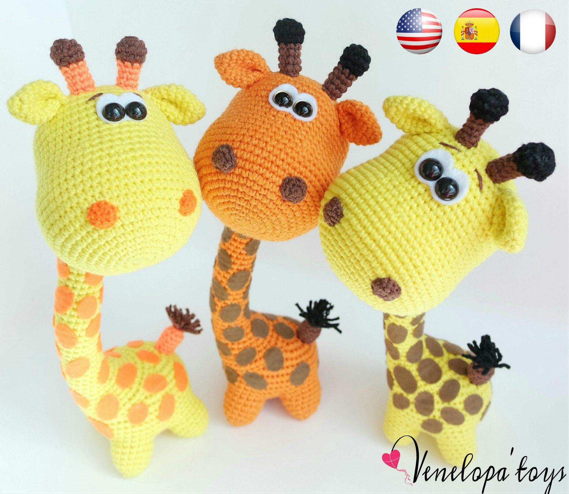 Pattern Funny Giraffe amigurumi crochet crochet | Auragmi crochet ...