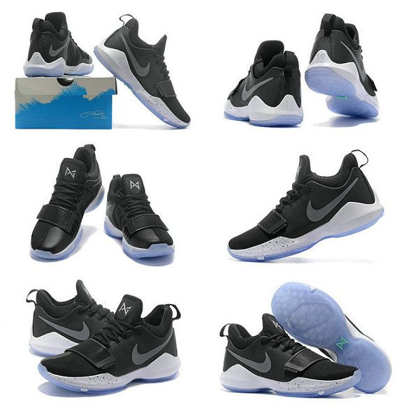 eeb0e13d3f13 Size 11 Nike PG 1 Paul George Shoes 2018 Black Ice Black White Hyper  Turquoise 878627-001