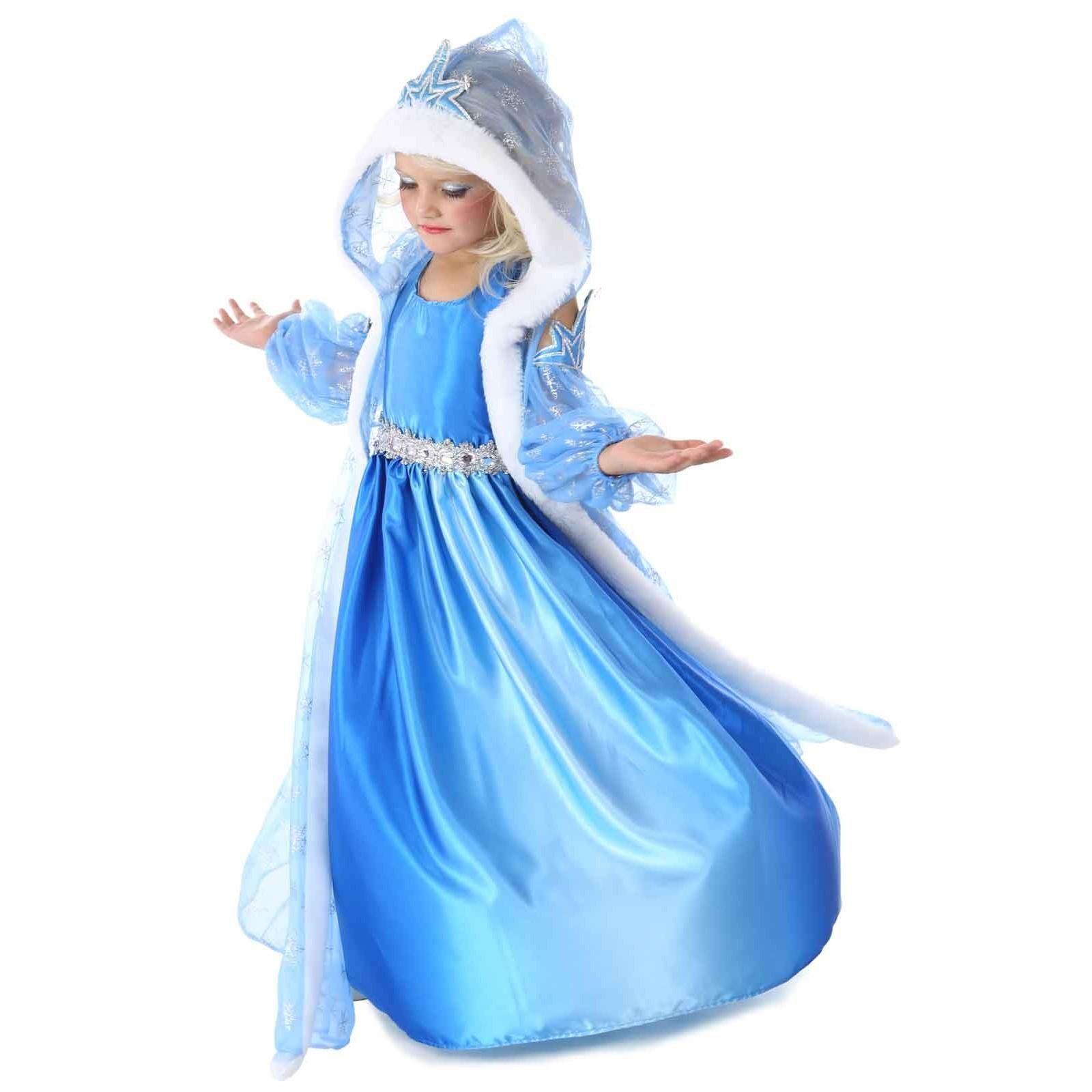 Modest Girls Frozen Elsa Coronation Snow Queen Princess Costume Party Dress And Cape Costumes
