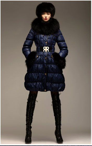 Women Detachable Real Fur White Duck Down Coat With Belt,Palace ...