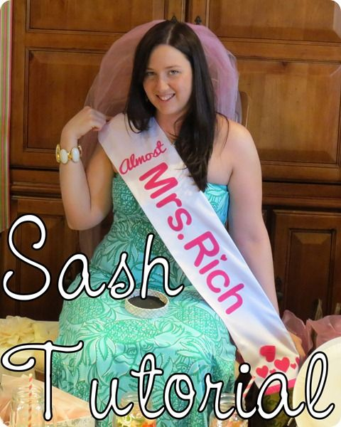 Almost Mrs. ___ Sash Tutorial Great For The Bachelorette