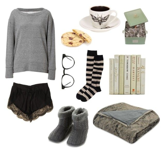 """""""Thunderstorm watching"""" by n-nyx ❤ liked on Polyvore featuring Isotoner, Lover, Current/Elliott, Spitfire, cozy and darkmori"""