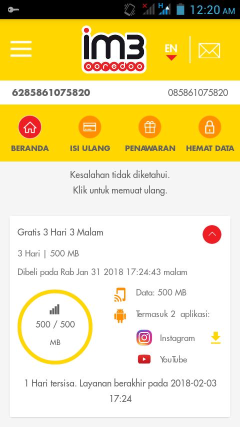 Promo Indosat Ooredoo Gratis Kuota Youtube Dan Instagram Instagram Aplikasi Gambar