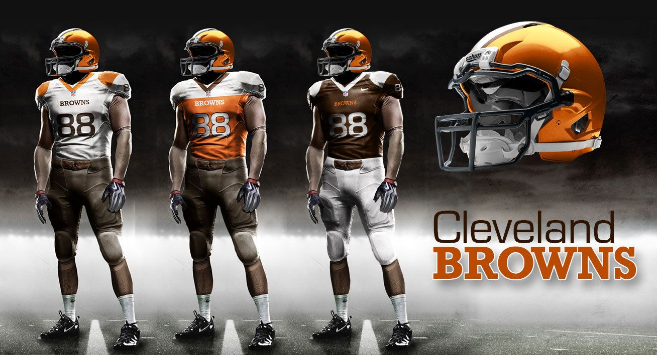 Browns New Uniforms Fan Submitted Designs Part 3 Cleveland Browns 32 Nfl Teams Uniform Design