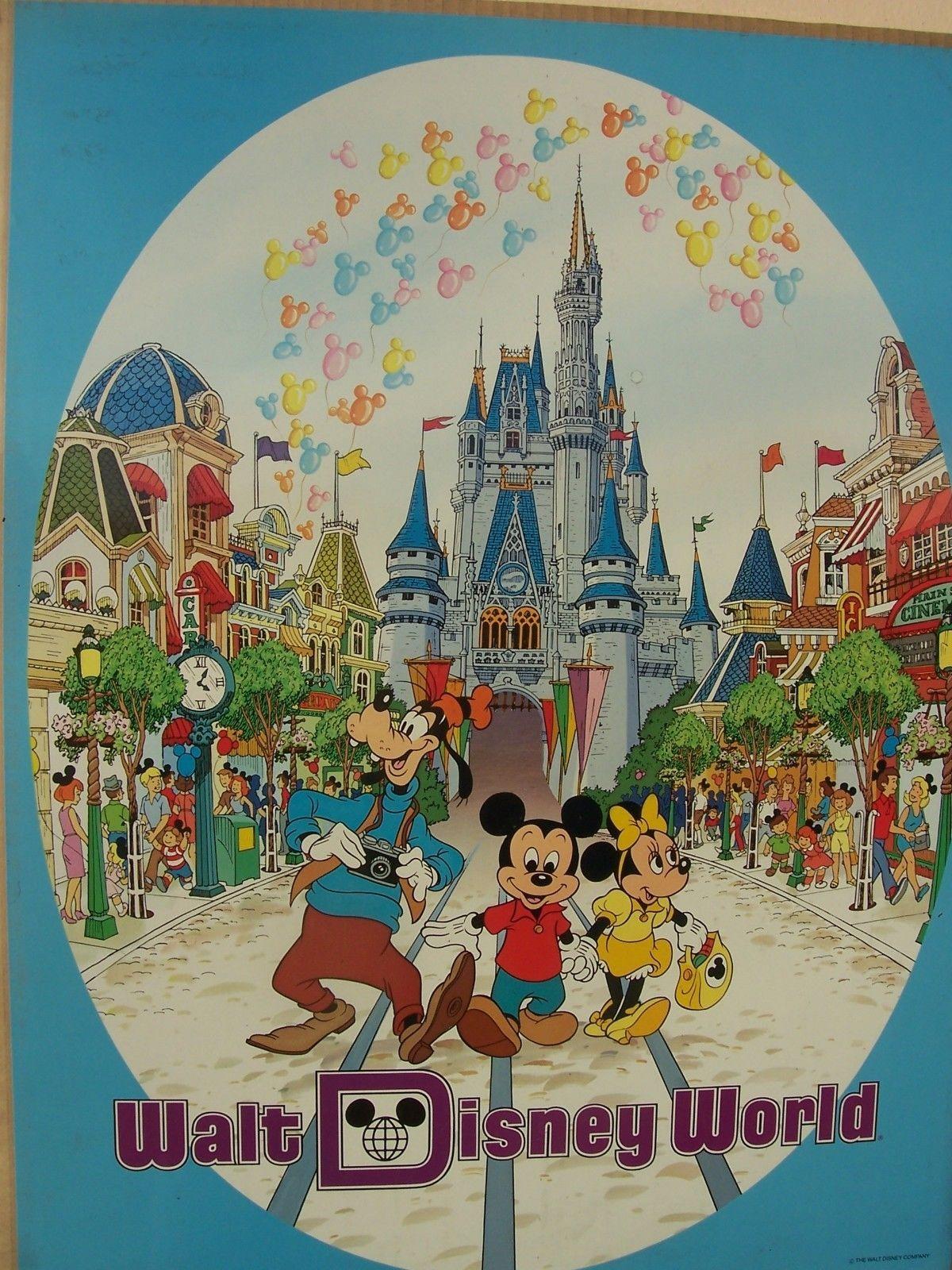 Walt Disney World Mickey Minnie Goofy 18 X 24 Poster Vintage Retro Disney Vintage Disney Posters Disney Posters