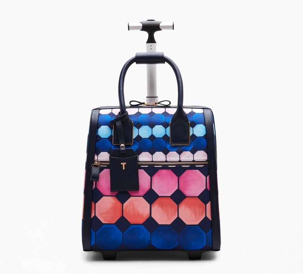Ted Baker Mahala Marina Mosaic Wheeled Travel Bag Travel Bags