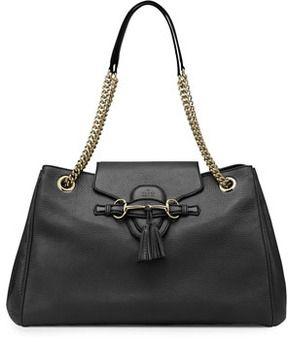 f5d04d7d80d Gucci Emily Leather Shoulder Bag