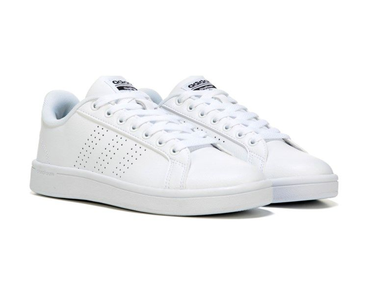 adidas neo men's cloudfoam advantage clean leather sneakers