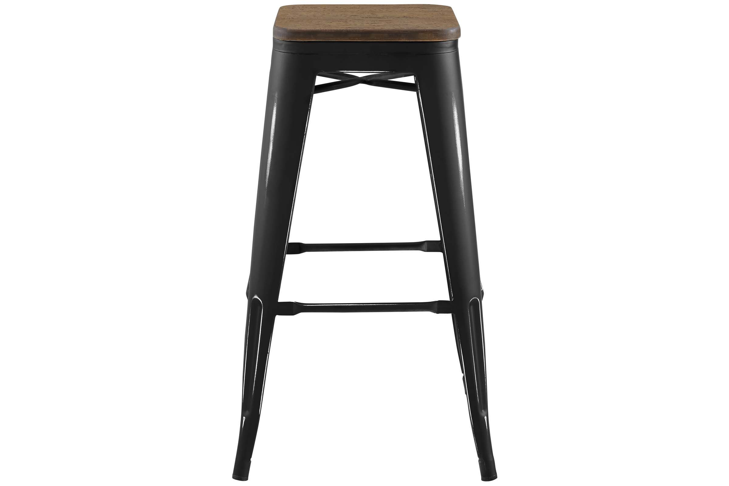 Promenade Backless Bar Stool In Black By Modway In 2020 Backless