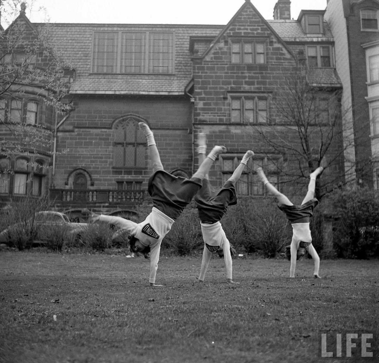cheerleaders at boston university circa ~life magazine boston university