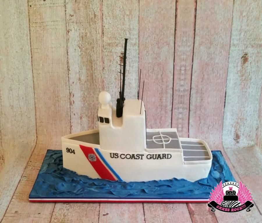 Coast+Guard+Retirement+Cake,++Cutter+Northland+by+Cakes+ROCK!!!++