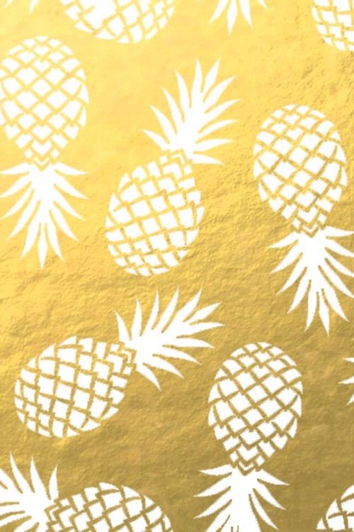 Image via We Heart It #background #gold #iphone #pineapple ...