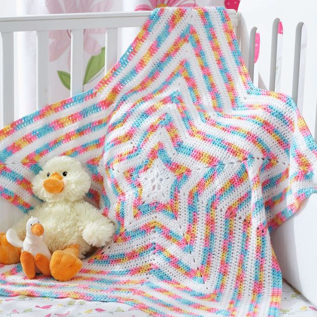 Bernat Star Blanket | Crafty | Pinterest