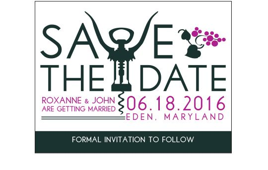 Uncorked Vineyard Wedding Save the Dates - a whimsical save the date card for a modern vineyard or wine-themed wedding. - Wine Country Occasions, www.winecountryoccasions.com