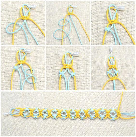 In diesem einfachen DIY-Schmuck-Tutorial lernen Sie, wie Sie ein Freundschaftsarmband mit Lerchenknoten stricken. Diese Idee ist nur ein einfacher Weg zum DIY-Freundschaftsarmband #friendshipbracelets