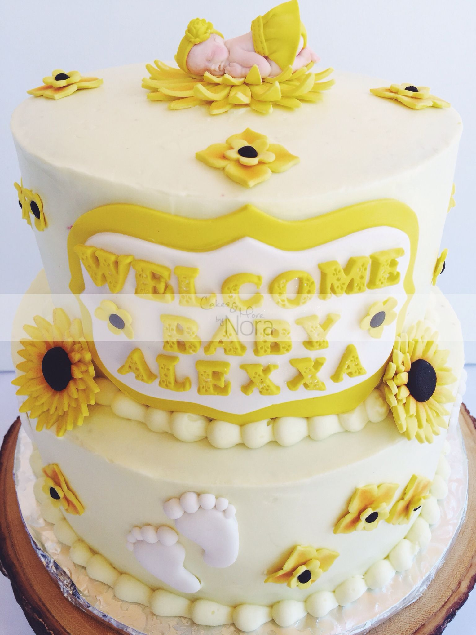Sunflower Baby Shower Cake - Cakes And More By Nora