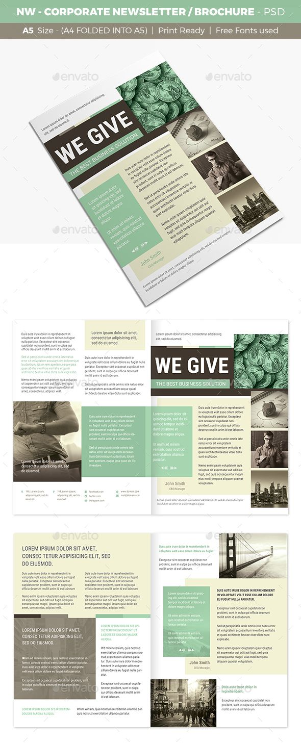 Nw Corporate Newsletter Brochure Brochures Print Templates