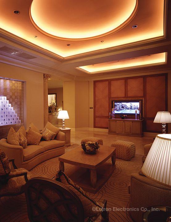 Beautiful Example Of Radius Cove Lighting Controlled By Lutron Lighting Controls Lutronlighting Lutrondimmers Living Room Lighting Lutron Lutron Lighting