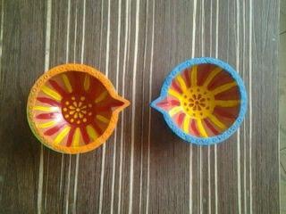 Colorful diyas