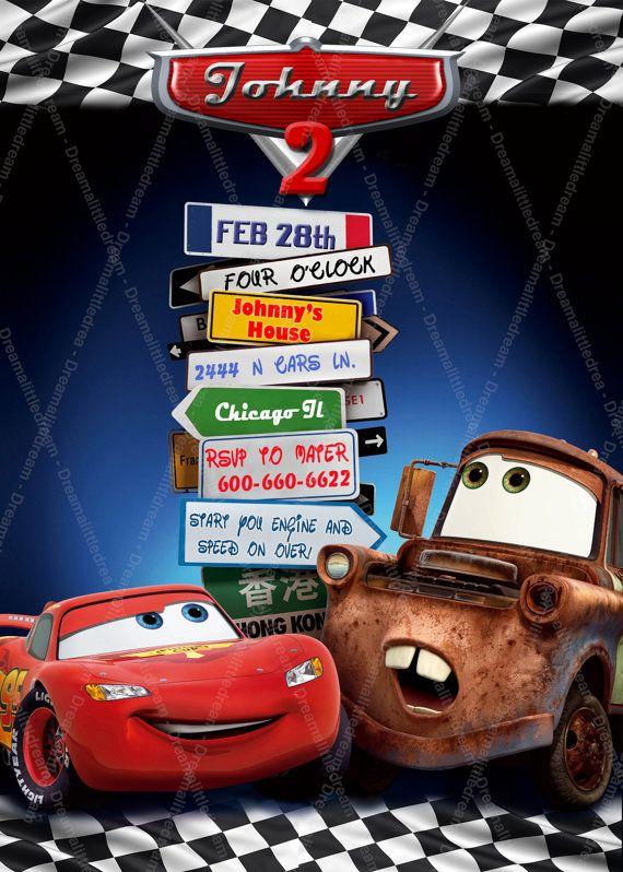 Disney Cars Printable Invitation Cars Birthdays and Birthday