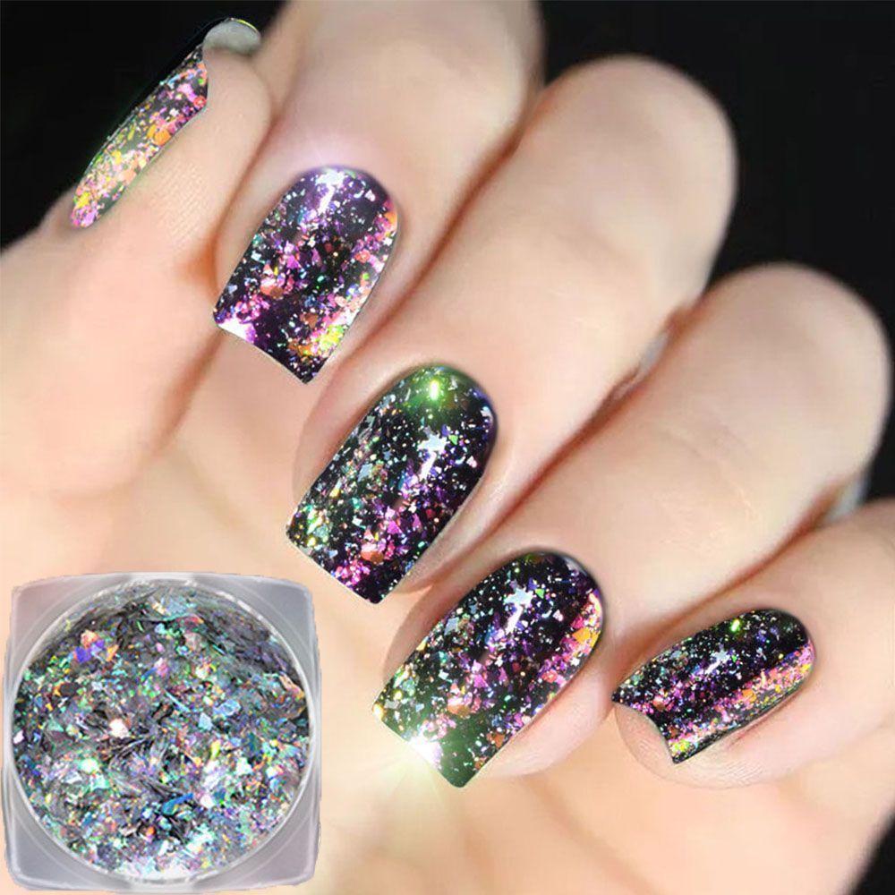 $2.27 AUD - Diy Art Tips Nail Glitters Magic Mirror Powder Shimmer ...