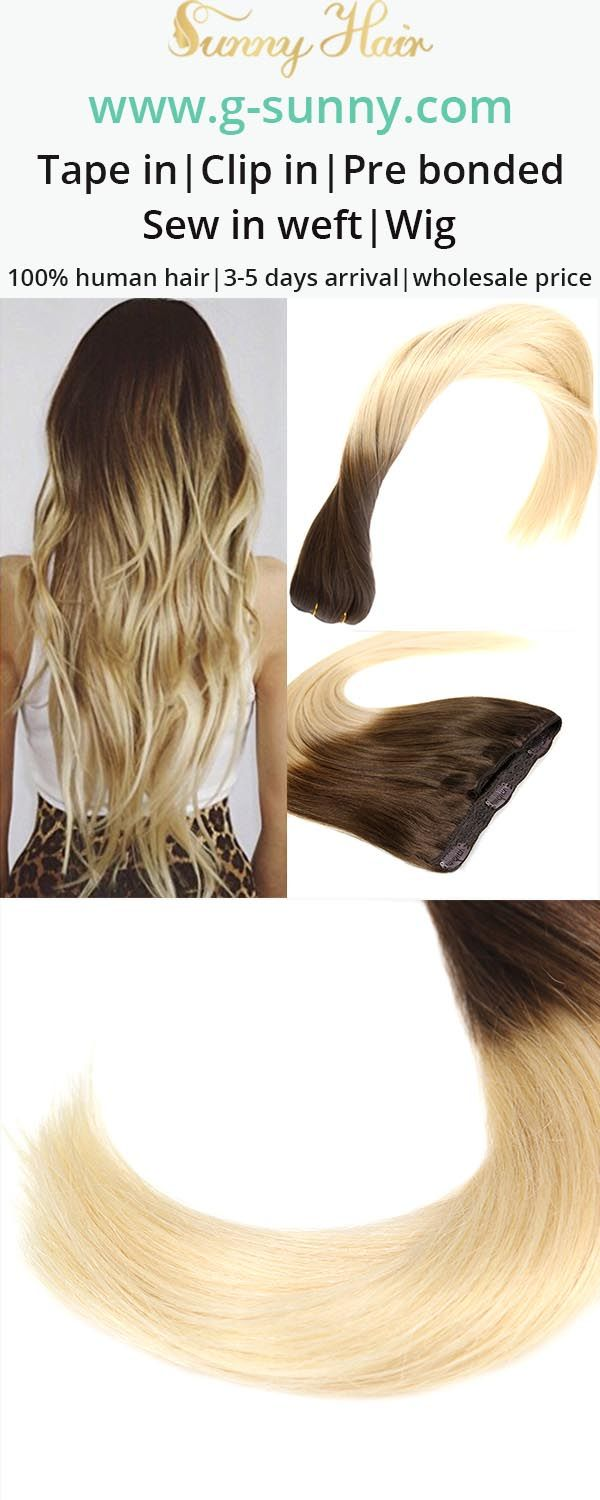 Sunny Hair 100 Real Human Hair Clip In Hair Extensions Brown And