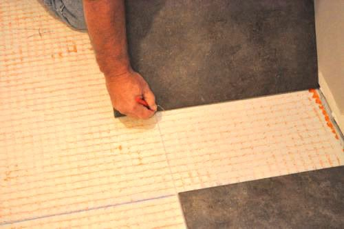 How To Lay Tile Radiant Heat Cement And Laying Tile