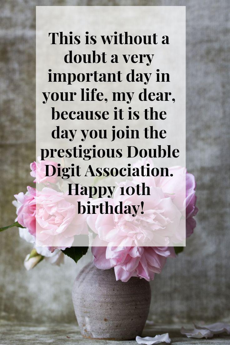 Happy 10th Birthday Happy 10th birthday, Birthday wishes